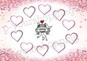 Tableau Mariage tema cuori love matrimonio 100x70 forex 5mm segnatavolo in omaggio