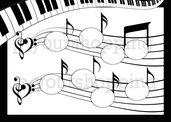 Tableau Mariage tema musica matrimonio 50x70 forex 5mm segnatavolo in omaggio