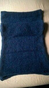Grande sciarpa o scialle lavorata ai ferri