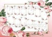 Tableau Mariage tema fiori love matrimonio 70x100 forex 5mm segnatavolo in omaggio