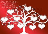 Tableau Mariage tema albero della vita matrimonio 70x50cm forex 5mm segnatavolo in omaggio vari colori