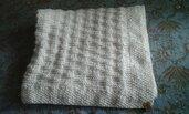 Coperta carrozzina in lana a maglia -- su ordinazione