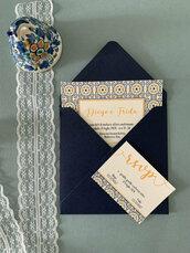 PARTECIPAZIONE MATRIMONIO - Modello Isabel - invito nozze, suite grafica in coordinato