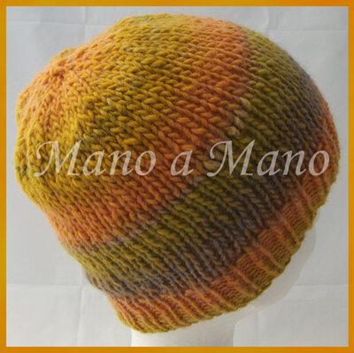 Cuffia arancio giallo verdino