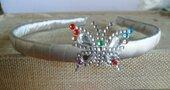 Cerchietto capelli bimba argentato e farfalla trasparente