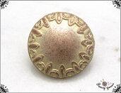 Bottoni vintage in metallo color oro rosa - attaccatura con gambo - mm. 15 - 5 pezzi