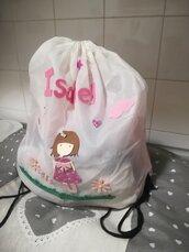 Sacca asilo personalizzata con nome. Bambino bambina Idea regalo. Handmade ❤️