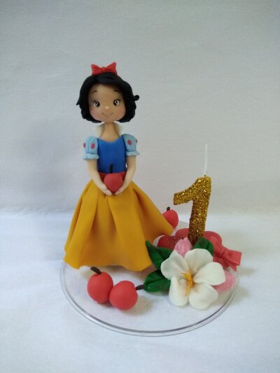 Cake topper compleanno biancaneve