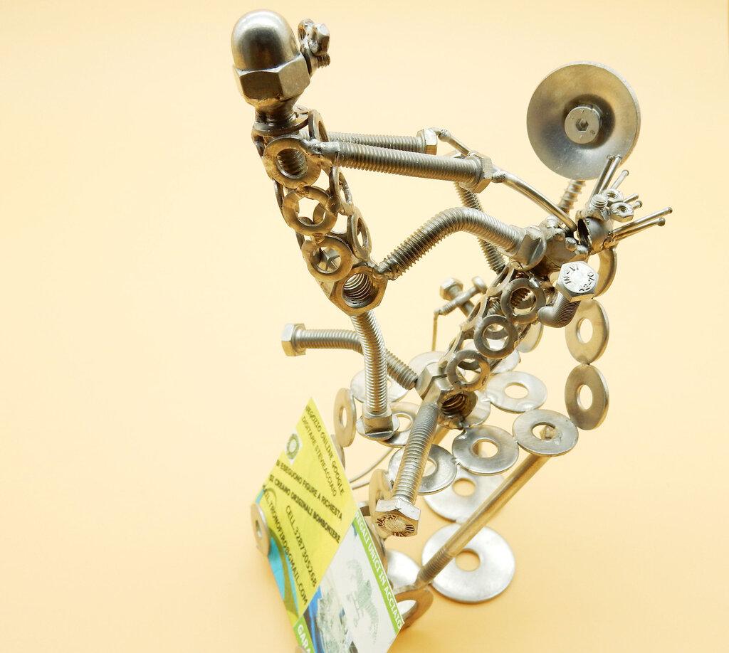 dentista artistico denti regalo per dentista odontoiatrico  scultura dentista art metal dentist arte del riciclo riciclato Metal sculpture