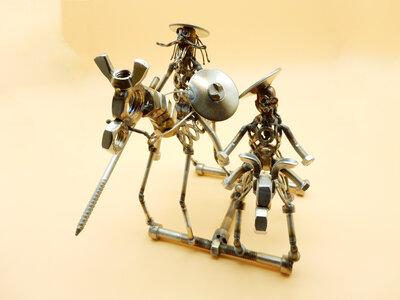 Lancillotto-cavaliere-don chisciotte Metal sculpture oggetti da collezione arte oggetti da collezione sculpture metal