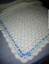 Copertina culla/carrozzina lana uncinetto