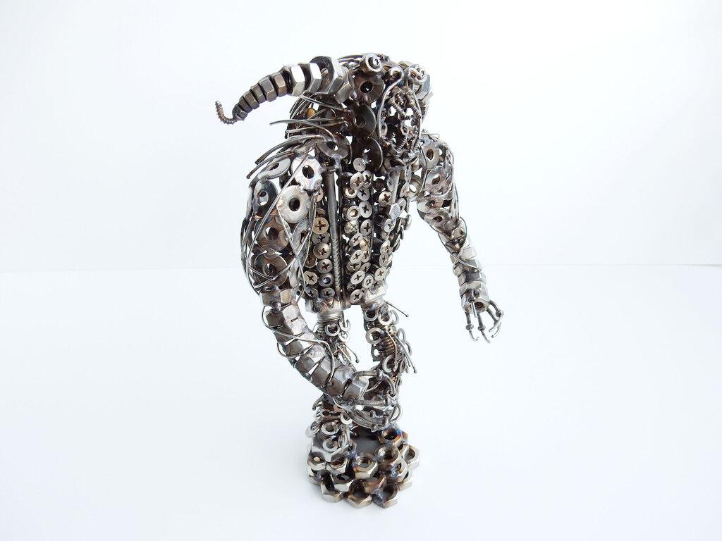 mostro caos Metal sculpture orrore mitologia diavolo orrendo creatura infernale regalo orror mistico satana mostro incubo creatura demoniaca