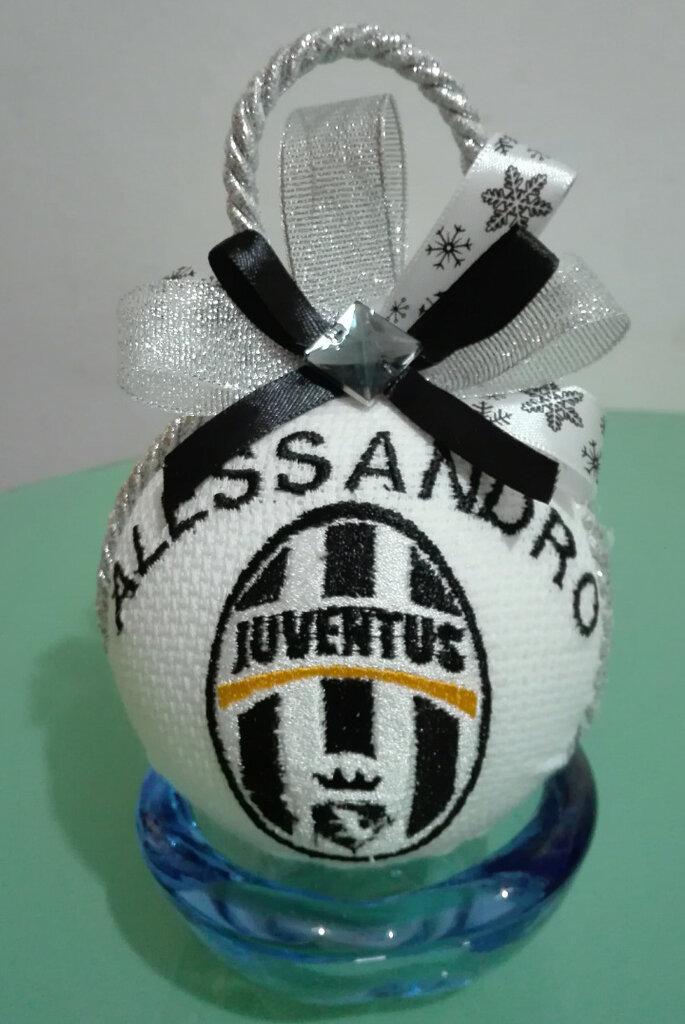 Addobbi Natalizi Juventus.Pallina Di Natale Juventus Per Veri Bianco Nero Personalizzata Su Misshobby