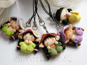Phone strap Folletti e Kokeshi