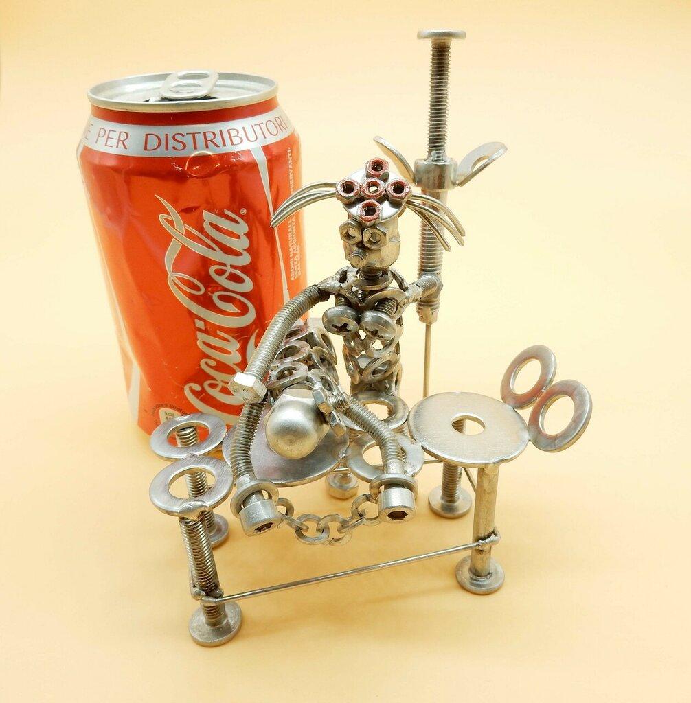 scultura infermiere  Art metal badante scultura  dottoressa regalo infermiera regalo dottoressa regalo riciclo metal art Metal sculpture