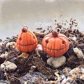 Collana Zucca Halloween in Fimo
