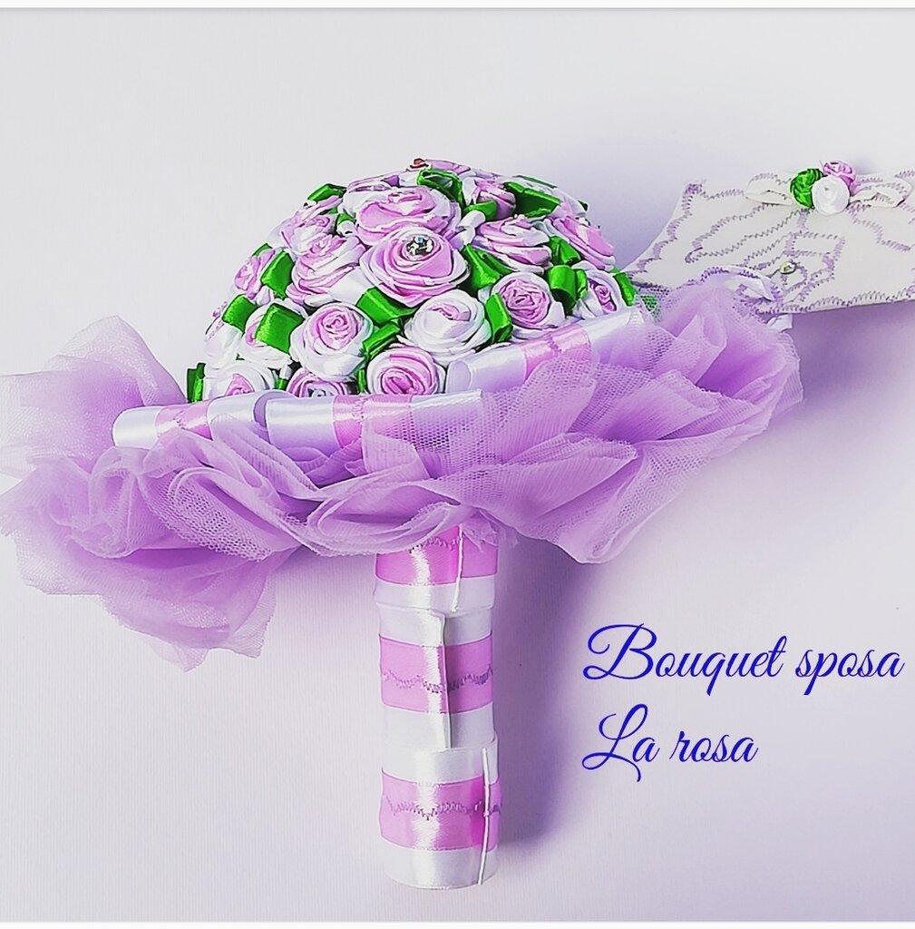 Bouquet  da sposa  in raso  particolare