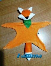 DOUDOU FOX in morbida ciniglia e pannolenci fatto a mano