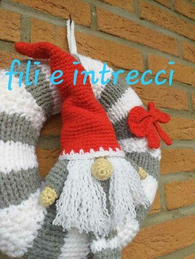 Segnaposto decorazione Natale gnomo gambe lunghe amigurumi ... | 533x400