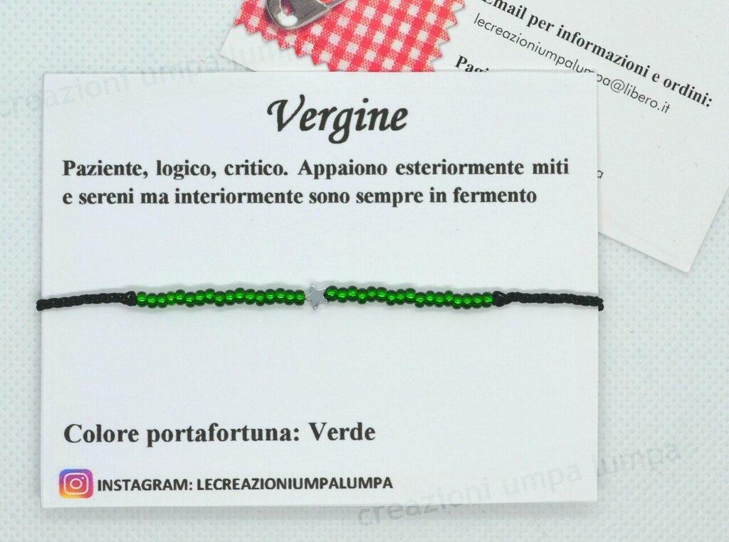 bracciale perline portafortuna segno zodiaco vergine