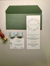 PARTECIPAZIONE MATRIMONIO - Modello Dafne - invito nozze, suite grafica in coordinato