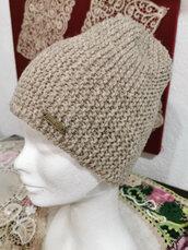 cappello uomo di lana d' Abruzzo, 100%pura lana vergine italiana , non tinta