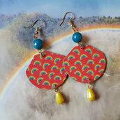 orecchini pendenti fantasia arcobaleno