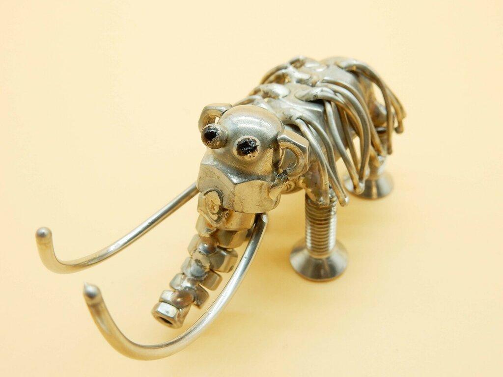 mammut passione mammut collezione scultura mammut mammut acciaio metal sculptures  arte mammut mammut artistico scrap metals metal art