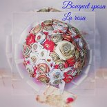Bouquet da sposa  in tessuto