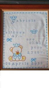 quadretto nascita orsetto