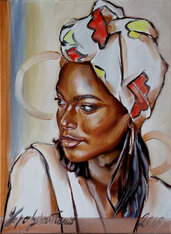 Quadro moderno Africa Olio su tela 30x40 idea regalo dipinto Arte quadri moderni idea Natale
