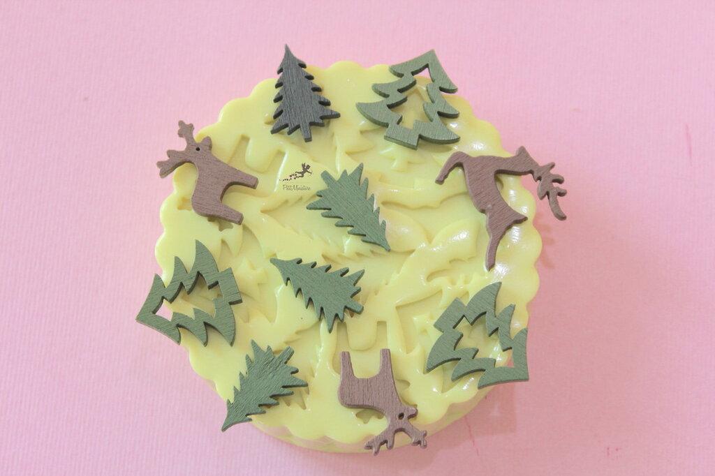 Set Stampo silicone Natale-Renna-Cervo-Albero di Natale-Stampini per il Fimo-Stampo Gioielli-Stampo Fimo-Stampo Resina-Stampo Sapone-ST604