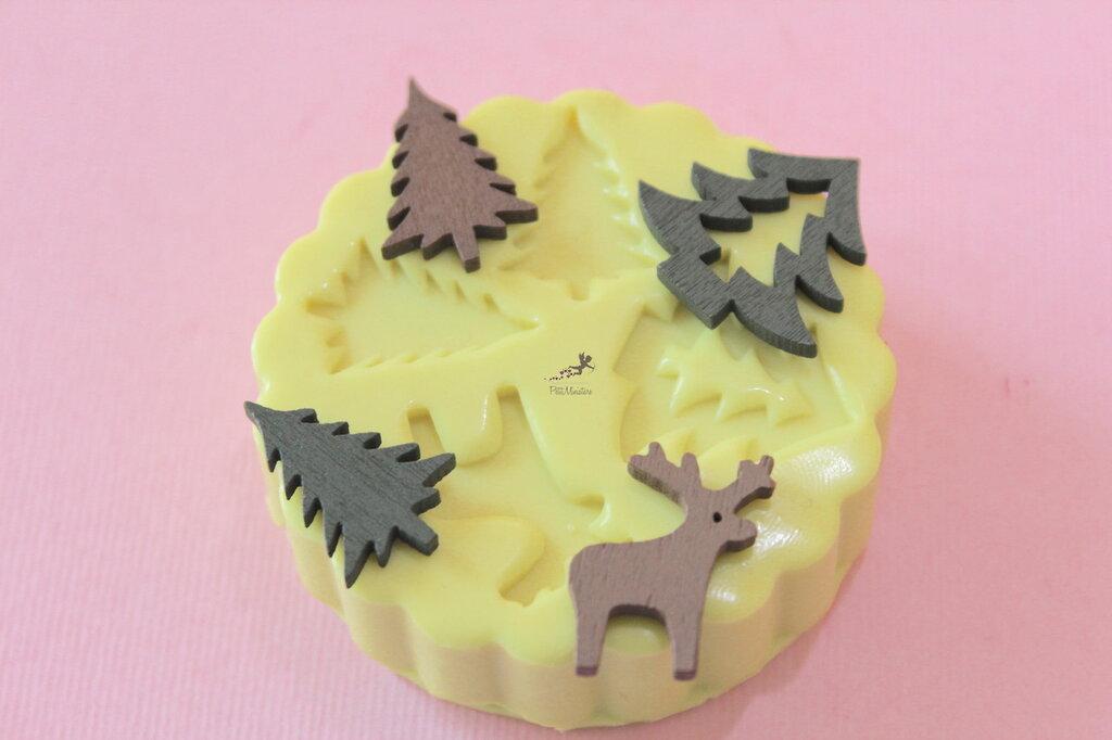 Set Stampo silicone Natale-Renna-Cervo-Albero di Natale-Stampini per il Fimo-Stampo Gioielli-Stampo Fimo-Stampo Resina-Stampo Sapone-ST604A