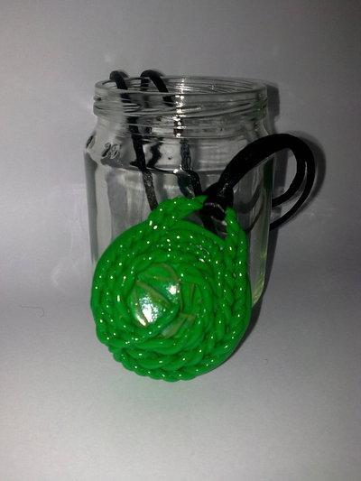 Medaglione torchon verde