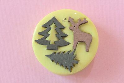 Set Stampo silicone Natale-Renna-Cervo-Albero di Natale-Stampini per il Fimo-Stampo Gioielli-Stampo Fimo-Stampo Resina-Stampo Sapone-ST604B