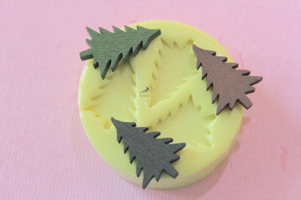 Set Stampo silicone Natale-Renna-Cervo-Albero di Natale-Stampini per il Fimo-Stampo Gioielli-Stampo Fimo-Stampo Resina-Stampo Sapone-ST604C