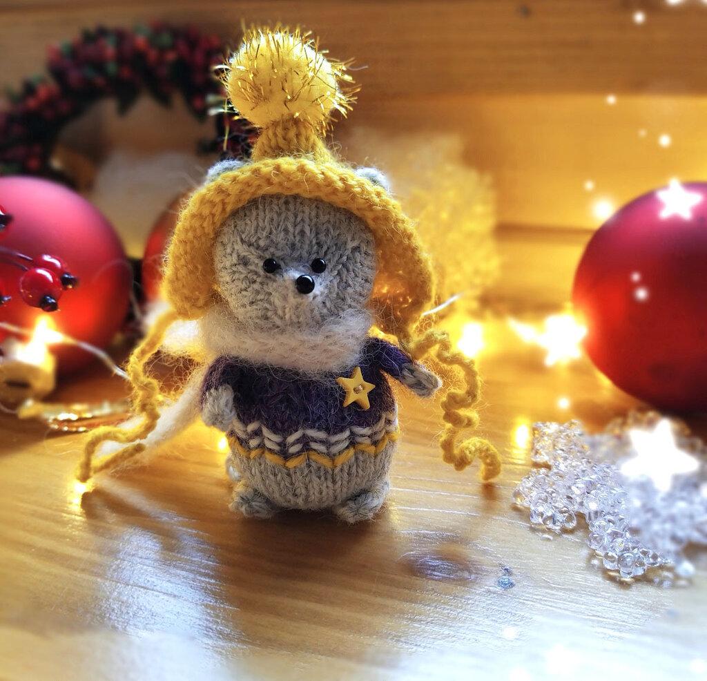 Bambola Amigurumi Topolino a maglia