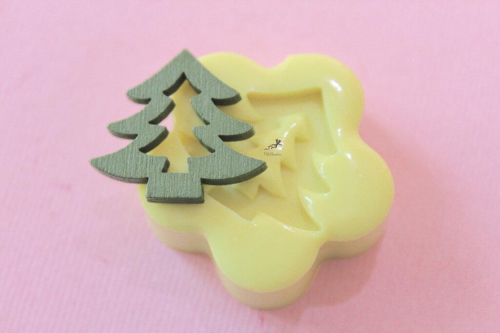 Albero di Natale-Stampo Silicone-Stampini per Fimo-Stampo Gioielli-Stampo Fimo-Stampo Resina-Stampo Sapone-Stampo Natale-Stampo Fimo-ST604E