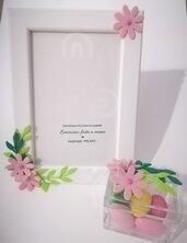 Cornice legno fiori Idea regalo coordinato bomboniera Primavera Romantico Personalizzabile