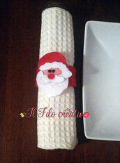 Set portatovaglioli segnaposto natalizio da 6 pz natale decorazioni tavola