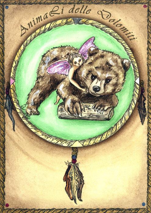 animali guida carte orso