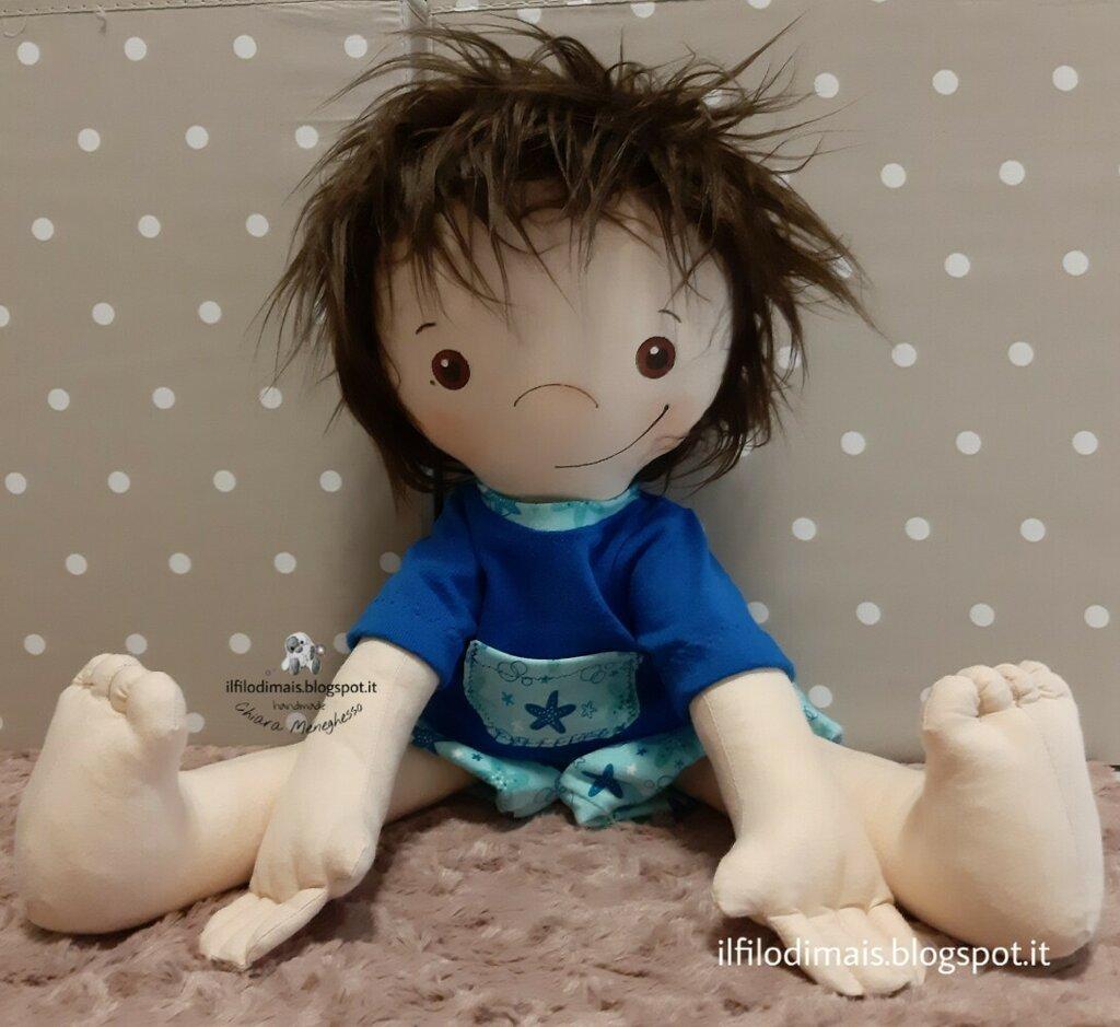 Bambola o Bambolotto di stoffa morbido e personalizzato