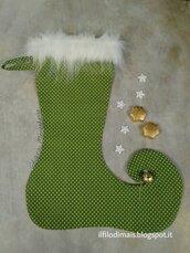 Calza della befana in stile elfo