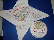 Biglietto regalo San Valentino disegnato da FunnyART