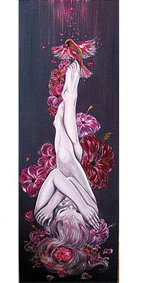 chacra rosso quadro raffigurante donna