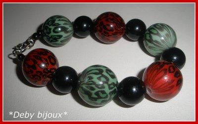 Bracciale con perle maculate