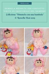 Bambola neonata empatica artigianale.