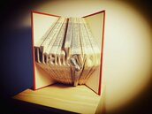 "Libro Scultura con scritta ""Thank You"""