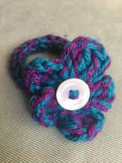 Bracciale bicolore in lana