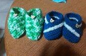 Scarpine e cappellino neonato
